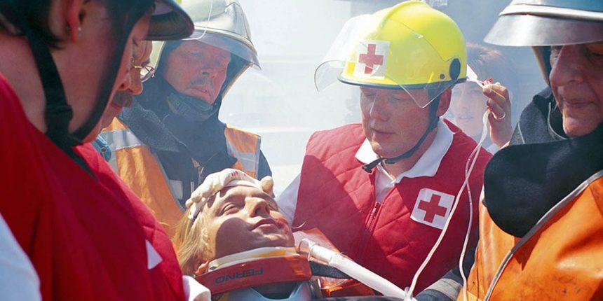 De vrijwilligers van het noodhulpteam werken nauw samen met andere professionals